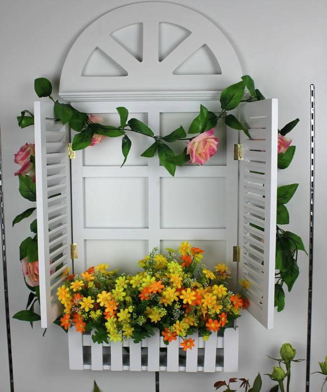 特价包邮 地中海风格木质 欧式百叶假窗户 墙面装饰