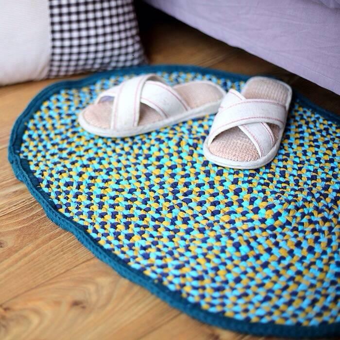 【鞠涵】纯手工钩织地垫小地毯卧室客厅浴室厨房门口