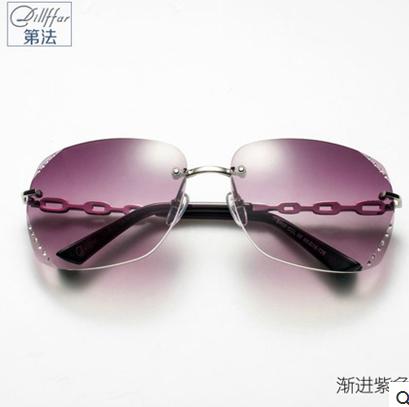 dillffar正品 精致无框镶钻 太阳镜女2014新款时尚 墨镜 眼镜