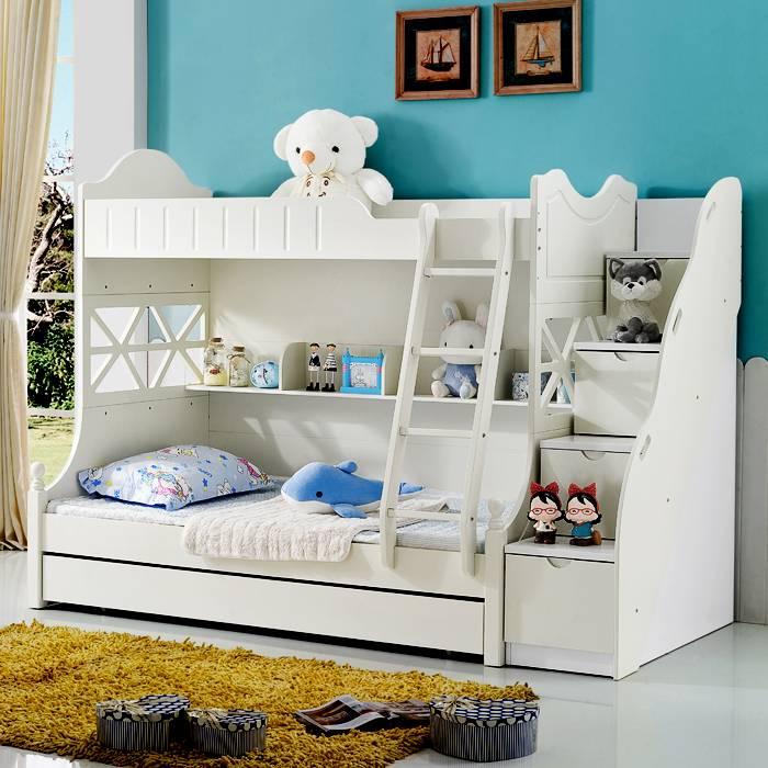 儿童床上下床 双层床上下铺 母子床公主男孩高低床子母床架子床