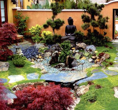 庭院景观花园别墅院子绿化设计住宅私家园林规划设计